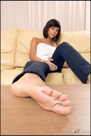 Foot lovers. Hot girl with smooth soles. - XXX Dessert - Picture 6