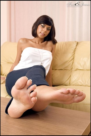 Foot lovers. Hot girl with smooth soles. - XXX Dessert - Picture 10