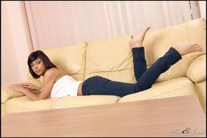 Foot lovers. Hot girl with smooth soles. - XXX Dessert - Picture 12