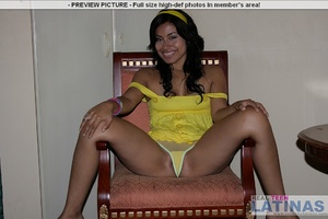 Naked latinas. Silvana in yellow dress. - XXX Dessert - Picture 5