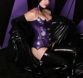 Rubber erotica. Spooky Goth Girl In Rubber.