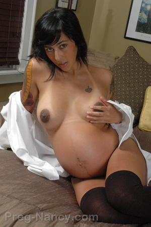 Hot pregnant. Preg Nancy wearing a mans  - XXX Dessert - Picture 12