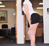 Office lady. Sasha Grey the hot office girl fucking her black boss.