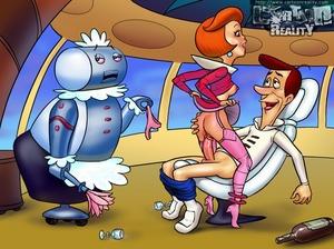 Cartoon sex comics. Sex party with Jetso - XXX Dessert - Picture 1