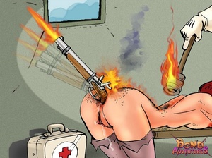 Porn comics. A firing gun in nurse's ass - XXX Dessert - Picture 3