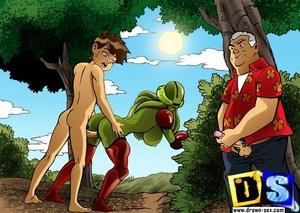Porn cartoon. Ben 10 and his slut. - XXX Dessert - Picture 5