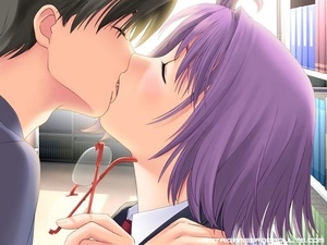 Sex hentai. Gorgeous anime chick kissing - XXX Dessert - Picture 2