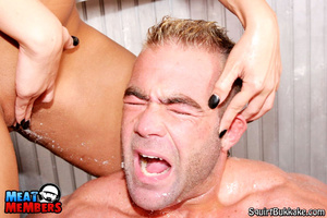Squirting girl. Big stud gets his face a - XXX Dessert - Picture 10