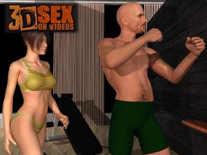 3d bald dude undressing his gf and fucki - XXX Dessert - Picture 2