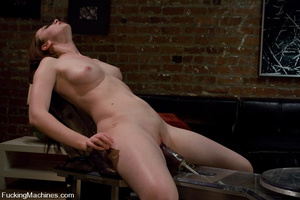 Fuckingmachines. New girl has creamy pus - XXX Dessert - Picture 9
