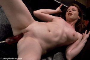 Fuckingmachines. New girl has creamy pus - XXX Dessert - Picture 11
