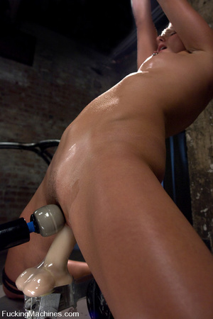 Fucking machine sex pics. Toned blond is - XXX Dessert - Picture 13
