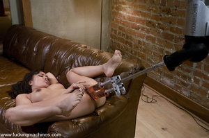 Machine fuck. Asian Squirts all over her - XXX Dessert - Picture 8