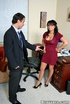 Busty. Busty Eva Angelina restaurant manager steeling money get caught.