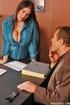 Big tits. Humongous boobed Daphne Rosen fucked on her desk.