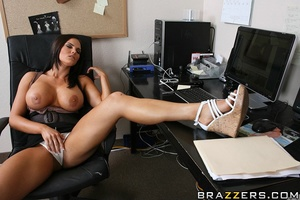 Office lady. Busty office girl Mackenzee - XXX Dessert - Picture 5
