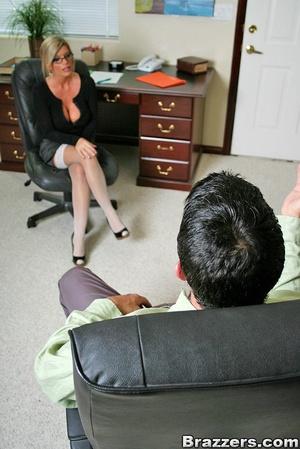 Office porn. Busty blonde secretary gett - XXX Dessert - Picture 2