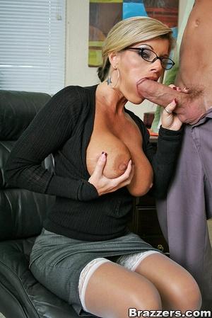 Office porn. Busty blonde secretary gett - XXX Dessert - Picture 7
