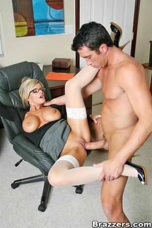 Office porn. Busty blonde secretary gett - XXX Dessert - Picture 8