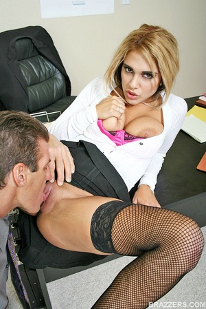 Huge boobs. Carmel Moore the busty profe - XXX Dessert - Picture 6