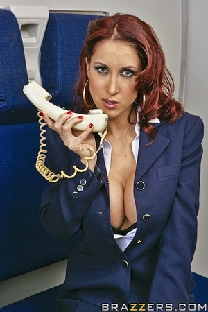 Big tits round. This flight attendant is - XXX Dessert - Picture 1